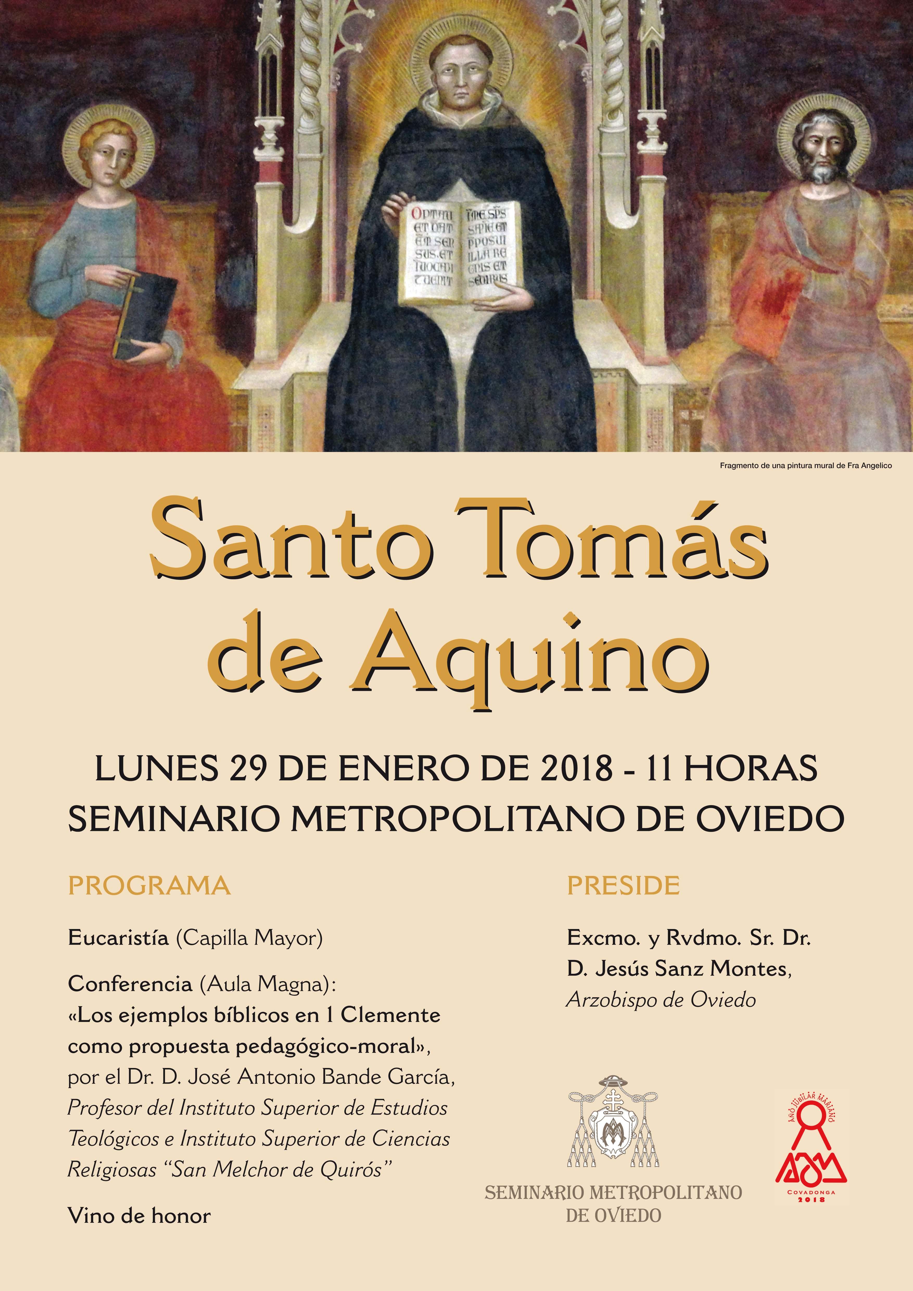 Festividad de Santo Tomás de Aquino 2018
